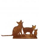 chats de stand en métal
